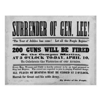 Cartão Postal Rendição do general Lee