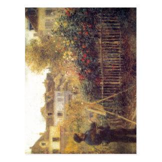 Cartão Postal Renoir, beim Malen de Pierre-Auguste Monet no
