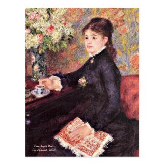 Cartão Postal Renoir - copo do chocolate, 1878