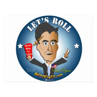 Cartão Postal Reparo da luva ele - Paul Ryan