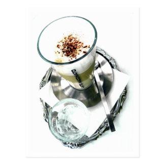 Cartão Postal Reparo de Latte do café