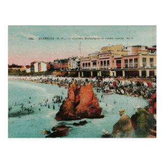 Cartão Postal Réplica 1917 de Biarritz Le casino Municipal