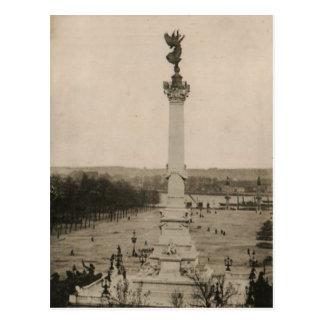 Cartão Postal Réplica 1926 de France da coluna de Girondins do