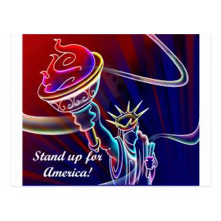 Cartão Postal Represente acima América!