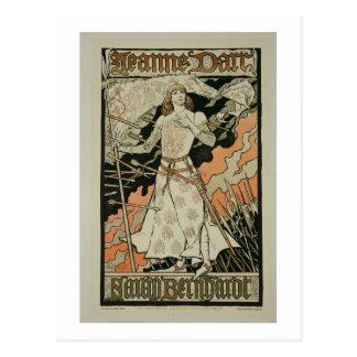 Cartão Postal Reprodução de uma propaganda de poster 'Joana de