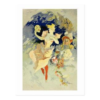 """Cartão Postal Reprodução do """"La Danse"""", 1891 (litho)"""