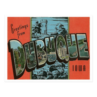 Cartão Postal Reprodução Dubuque do vintage, Iowa