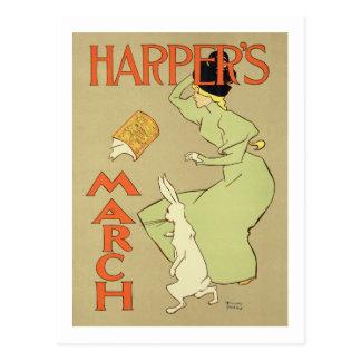 Cartão Postal Reprodução o mag de um harpista da propaganda de
