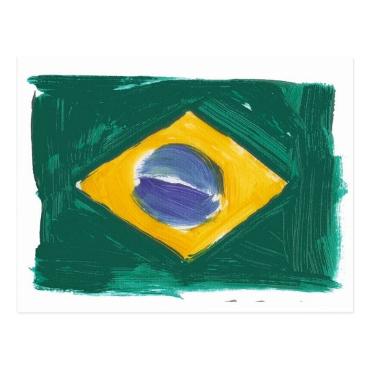 Cartão Postal Republic of Brazil flag