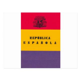 Cartão Postal República da bandeira da espanha - bandera