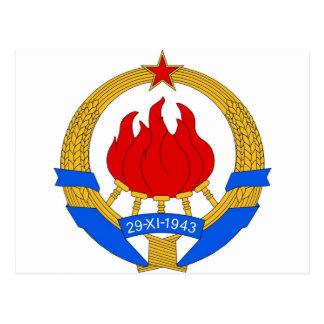 Cartão Postal República federal socialista do emblema de