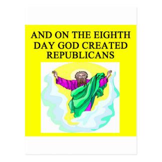 Cartão Postal republicanos creeated deus