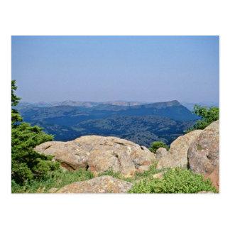 Cartão Postal Reserva natural do nacional das montanhas de