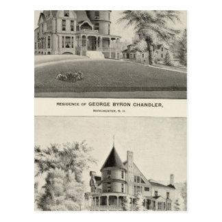 Cartão Postal Residência de Chandler, Manchester, NH