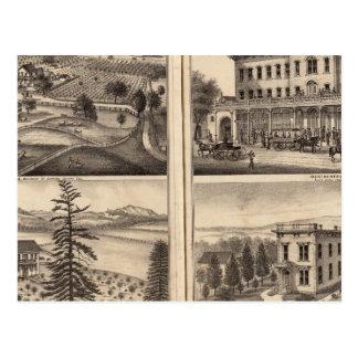 Cartão Postal Residências de DD Phillips, C Lee Lamberto