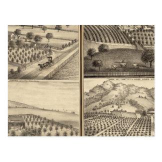 Cartão Postal Residências de Edward Jennings, Alfred Symonds