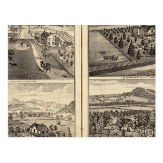 Cartão Postal Residências de Franklin Bedwell