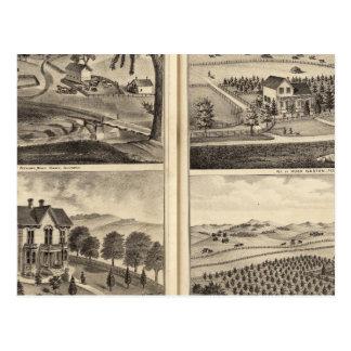 Cartão Postal Residências de WA Lewis, John Fritsch, Hugh Gaston