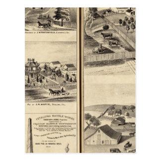 Cartão Postal Residências do liço do DG, JM Bowles