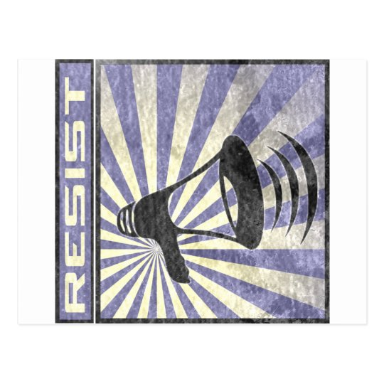 Cartão Postal Resist (Blue an gray stripes)