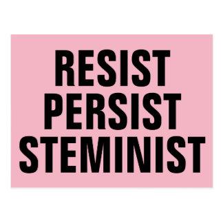 Cartão Postal Resista persistem rosa da resistência da HASTE de