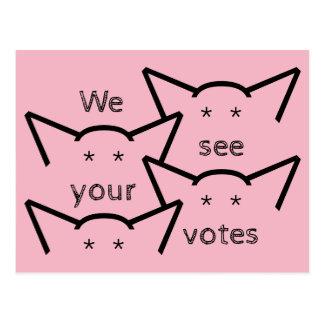 Cartão Postal Resistência dos votos das mulheres das orelhas de