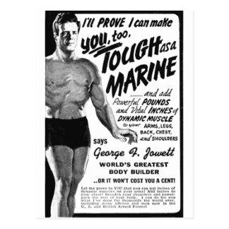 Cartão Postal Resistente como um fuzileiro naval!