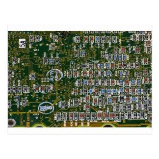 Cartão Postal Resistores em um conselho de circuito