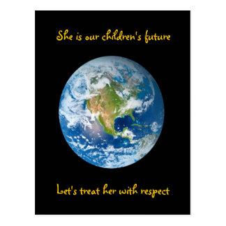 Cartão Postal Respeite a terra - Dia da Terra