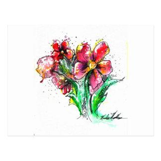 Cartão Postal Respingo da flor selvagem