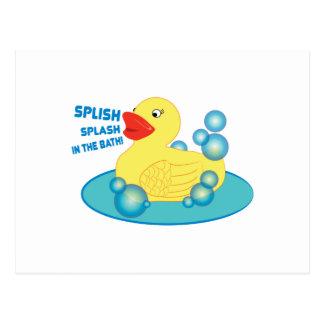 Cartão Postal Respingo de Splish no banho!