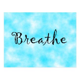 Cartão Postal Respirar-cartão