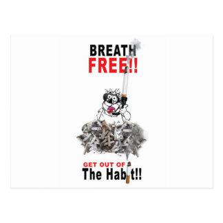 Cartão Postal Respire livre - PARE DE FUMAR