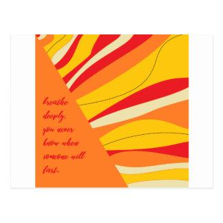 Cartão Postal respire profundamente