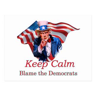 Cartão Postal Responsabilize as Democratas