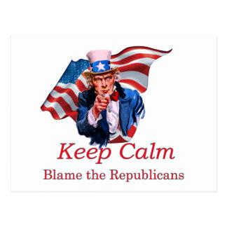 Cartão Postal Responsabilize os republicanos