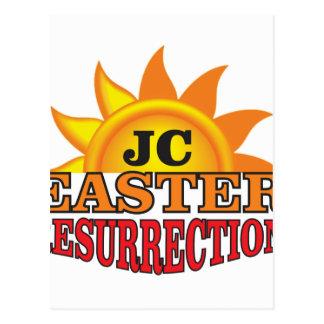 Cartão Postal ressurreição da páscoa do jc