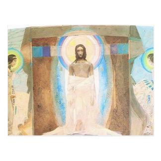 Cartão Postal Ressurreição de Mikhail Vrubel-