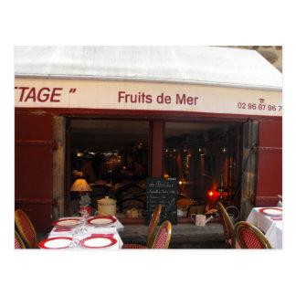 Cartão Postal Restaurante France do marisco de Fruta de Mer