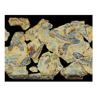 Cartão Postal resto da pintura mural da arte do fresco da