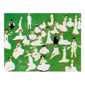Cartão Postal Resto de Kazimir Malevich-. Sociedade nos chapéus