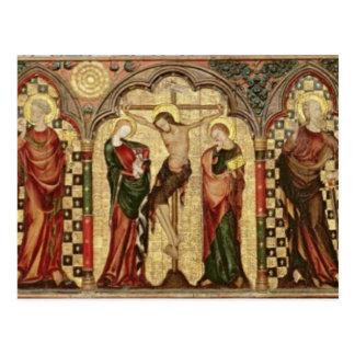 Cartão Postal Retable que descreve a crucificação com oito