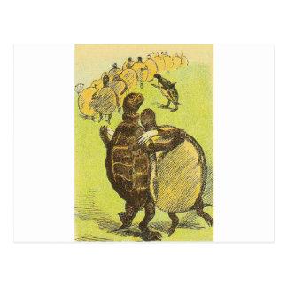 Cartão Postal Retarde tartarugas da dança