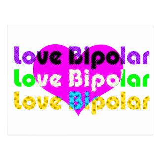 Cartão Postal reticulação bipolar do amor