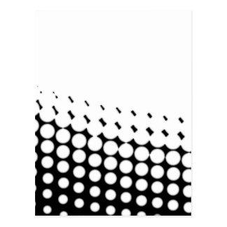 Cartão Postal Reticulação diagonal de B e de W
