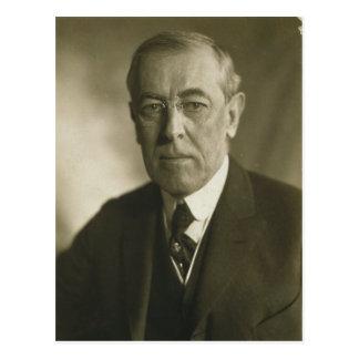 Cartão Postal Retrato 1919 do presidente Woodrow Wilson