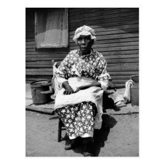 Cartão Postal Retrato anterior do escravo, os anos 30