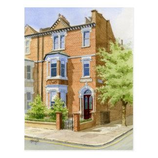 Cartão Postal retrato da casa do watercolour