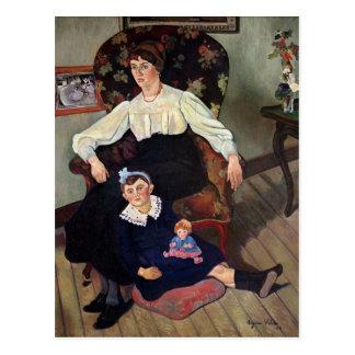 Cartão Postal Retrato da coca de Marie e da sua Filha, 1913