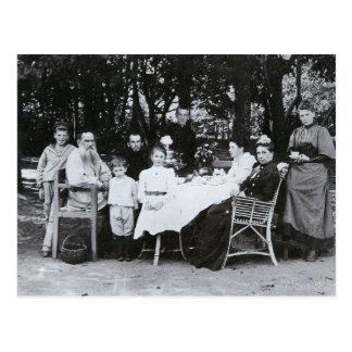 Cartão Postal Retrato da família autor do Leo N. Tolstoy